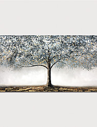 cheap -Oil Painting Paint Handmade Abstract Tree Canvas Art Modern Art with Stretcher Ready to Hang With Stretched Frame