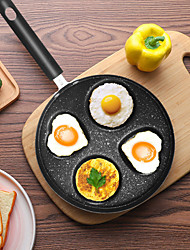 cheap -Four-hole Omelet Pan For Eggs Ham PanCake Maker Frying Pans Creative Non-stick No Oil-smoke Breakfast Grill Pan Cooking Pot