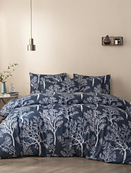 cheap -Botanical Print 3-Piece Duvet Cover Set Hotel Bedding Sets Comforter Cover with Soft Lightweight Microfiber(Include 1 Duvet Cover and 1or 2 Pillowcases)