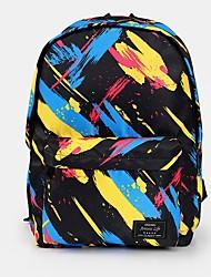 cheap -Large Capacity School Bag Unisex Polyester Pattern / Print Zipper Geometric School Black