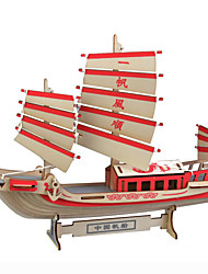 cheap -Ship 3D Puzzle Wooden Puzzle Wooden Model Wood Kid's Adults' Toy Gift