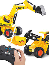 cheap -Construction Truck Toys Remote Control Car Dozer Excavator Shovel Truck Remote Control / RC Simulation Plastic Mini Car Vehicles Toys for Party Favor or Kids Birthday Gift / Kid's