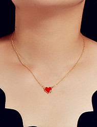 cheap -Women's Pendant Necklace Fashion Alloy Red 44 cm Necklace Jewelry 1pc For Gift Festival