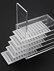 cheap -acrylic 5 layers clear eyelash storage box false eyelash holder case makeup display container (eyelash box)