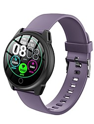 cheap -Round-screen Bluetooth Fitness Tracker with TPU-strap, IP67 Water-resistant Smartwatch for Android/ Iphone/ Samsung Phones