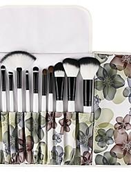 cheap -makeup brush premium 12 pieces makeup brushes set foundation powder contour concealer blending eyeshadow professional bursh set with floral case