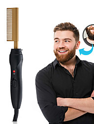 cheap -Hot Comb Hair Straightener - Electric Straightening Comb for African American Hair and Wigs - Technology Hair Straightener for Wet and Dry Hair - Quick Heated Comb for Men Long Beard