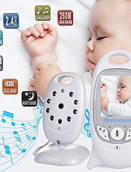 cheap -Wireless Video Baby Monitor Color Security Camera 2 Way Night Vision Infrared Led Temperature Monitoring And 8 Lullaby