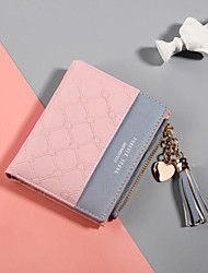 cheap -Women's Bags PU Leather Wallet Tassel for Shopping Black / Red / Blushing Pink / Light Purple / Light Grey