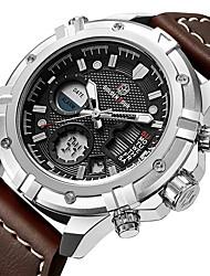 cheap -mens sport watch digital analog quartz waterproof multifunctional military leather wrist watches litbwat