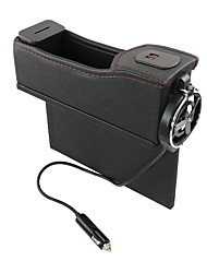 cheap -6910 Vehicle Storage Box USB With Charging Digital Display Storage Box Multi-Function Slit Water Cup Holder Automobile Leather Co Driver's Seat