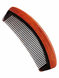 cheap -fine tooth wooden hair comb - no static ox horn combs for women and men - pocket detangler comb for thin natural hair