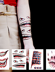 cheap -Halloween Party Toys Tattoo Stickers 25 pcs 3D Scary Waterproof Paper Kid's Adults Trick or Treat Halloween Party Favors Supplies