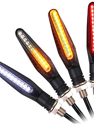 cheap -4PCS New Turn Indicator For Motorcycles 24led Yellow Front Rear Daylight Red Brake Lights