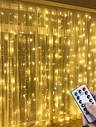 cheap -LED Window Curtain String Lights 3x3m 300LED 8 Lighting Modes Christmas Fairy Lights Home Décor Lights for Christmas Bedroom Party Garden Wedding