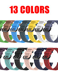 cheap -13 Colors Soft Silicone Sports Band For Fitbit Charge 3 Bracelet Watchband Strap For Fitbit Charge3 Watch Straps band with Metal Buckle
