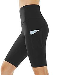 رخيصةأون -شورت يوغا عالي الخصر للنساء مع 2 جيوب جانبية للتحكم في البطن شورت للركض في المنزل& # 40 ؛ متوسطة ، والسراويل اليوغا طويلة سوداء& # 41 ؛