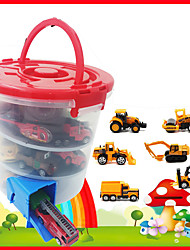 cheap -Construction Truck Toys Pull Back Car / Inertia Car Pull Back Vehicle Mini Race Car Crane Dump Truck Simulation Drop-resistant Alloy Mini Car Vehicles Toys for Party Favor or Kids Birthday Gift 1+6