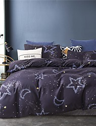 cheap -Starry Sky Print 3-Piece Duvet Cover Set Hotel Bedding Sets Comforter Cover with Soft Lightweight Microfiber(Include 1 Duvet Cover and 1or 2 Pillowcases)