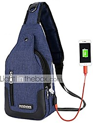 cheap -travel gym bike sling bag shoulder backpack daypack w/usb charging port