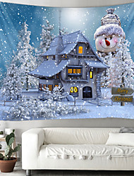 cheap -Christmas Weihnachten Santa Claus Wall Tapestry Art Decor Blanket Curtain Picnic Tablecloth Hanging Home Bedroom Living Room Dorm Decoration Window Snow Snowman Christmas Tree House Polyester