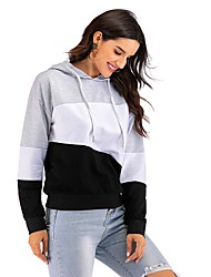 cheap -Women's Pullover Hoodie Sweatshirt Solid Colored Basic Hoodies Sweatshirts  Gray