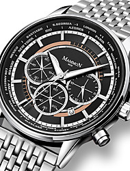 cheap -YAZOLE Men's Steel Band Watches Quartz Modern Style Sporty Casual Water Resistant / Waterproof Analog Black / Silver White+Silver / Stainless Steel / Calendar / date / day