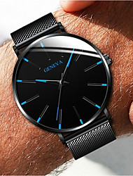 cheap -Couple's Dress Watch Quartz Formal Style Mesh Fashion Casual Watch Analog Black / White Black / Blue Rose Gold / One Year / Stainless Steel / Stainless Steel