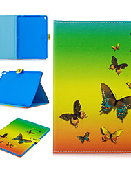 cheap -Case For Apple iPad air 1 air2 air3 pro 10.2 10.5 11 inches  9.7 inches 2019 2018 2017 Card Holder Shockproof Pattern Full Body Cases Animal PU Leather TPU Auto Sleep Wake Up magnetic buckle butterfly