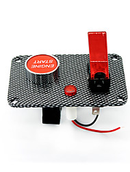 cheap -Carbon panel two sets of toggle switch panel 1 Red aviation cover  1 ignition switch (with light)