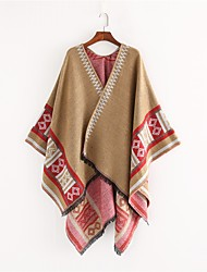 cheap -Women's Tassel Rectangle Scarf - Print Washable