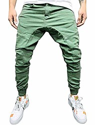 cheap -men's elastic-waist drawstring pants front zipper pockets,sweat,sport,running, track pants armygreen