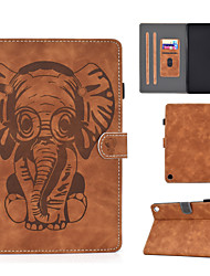 cheap -Case For Amazon kindle Fire HD8 2015 2017 2019 2020 HD10 2017 2029  Card Holder  Shockproof  Flip Full Body Cases Animal PU Leather  TPU elephant pattern