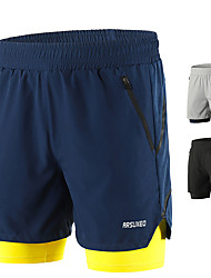 cheap -Arsuxeo Men's Running Shorts Running Shorts With Tights Shorts Bottoms 2 in 1 Liner Split Spandex Gym Workout Running Active Training Jogging Trail Breathable Quick Dry Reflective Strips Sport Black