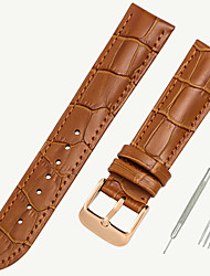 cheap -Genuine Leather / Leather / Calf Hair Watch Band Black / Brown 17cm / 6.69 Inches / 18cm / 7 Inches / 19cm / 7.48 Inches 1.2cm / 0.47 Inches / 1.4cm / 0.55 Inches / 1.6cm / 0.6 Inches
