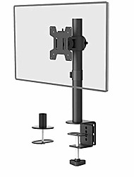 cheap -single lcd monitor desk mount fully adjustable desk mount fit 1 screen up to 27 inch, 22 lbs. weight capacity & #40;m001s& #41;, black by