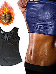 cheap -Hot Sweat Workout Tank Top Slimming Vest Sports PU(Polyurethane) Home Workout Fitness Gym Workout Portable Weight Loss Tummy Fat Burner Hot Sweat For Men
