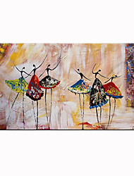 cheap -Unframed Panel Abstract Ballet Dancer Hand Painted Oil Painting Modern Abstract Home Decor Wall Art Picture For Living Room Rolled Without Frame