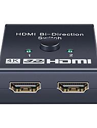 cheap -4K HDMI Switch 2 Ports Bidirecional 1x2/2x1 Hdmi Switcher Splitter Support Ultra Hd 1080p 3D
