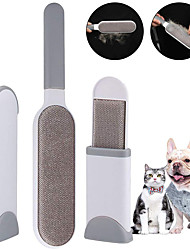 cheap -Cat Pets Dog Grooming Cleaning Tool Kit Pet Hair Remover Grooming Clippers Cordless Plastic Brush Dog Clean Supply Hair Removal Product Portable Double-Sided Foldable Pet Grooming Supplies Rainbow 1