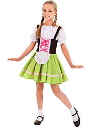 رخيصةأون -مهرجان أكتوبرفست Trachtenkleider للفتيات فستان البافارية كوستيوم أخضر