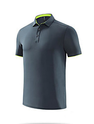 cheap -Men's Solid Color Polo Formal Tops Light Blue White Black