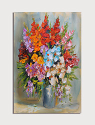 cheap -Hand-Painted Abstract Flowers in Visa by Knife Paintings Canvas Art  Painting Abstract Acrylic Painting Modern Art with Stretcher Ready to Hang With Stretched Frame