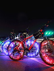cheap -LED Bike Light Valve Cap Flashing Lights Wheel Lights - Mountain Bike MTB Bicycle Cycling Waterproof Portable Color-Changing Warning Cell Batteries 400 lm Battery Cycling / Bike - Acacia
