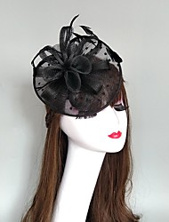 cheap -Headpieces Feathers / Net Fascinators / Hats / Headpiece with Feather / Cap 1 PC Wedding / Party / Evening Headpiece