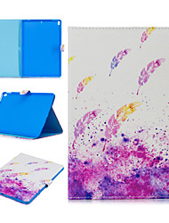 cheap -Case For Apple iPad air 1 air2 air3 pro 10.2 10.5 11 inches  9.7 inches 2019 2018 2017 Card Holder Shockproof Pattern Full Body Cases PU Leather TPU  magnetic buckle Feathers