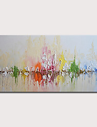 cheap -Oil Painting Hand Painted - Abstract Abstract Landscape Modern Stretched Canvas