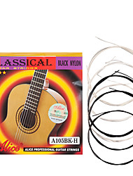 cheap -NAOMI Alice Classical Guitar Strings A105BK-H Nylon Core Siver-Plated Copper Alloy Winding Strings