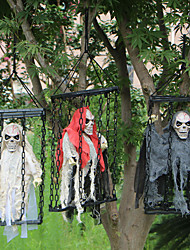 cheap -Halloween Party Toys Halloween Hanging Ghost 2 pcs Skull Skeleton Electric with Scary Sound and Glowing LED Red Eyes Plastic Kid's Adults Trick or Treat Halloween Party Favors Supplies