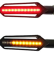 cheap -2PCS Motorcycle Turn Signals Tail Light LED Flowing Water Flashing Blinker Brake/Running Light DRL Flasher Tail Lamp for Honda